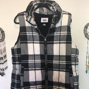 Flannel Puffy Vest